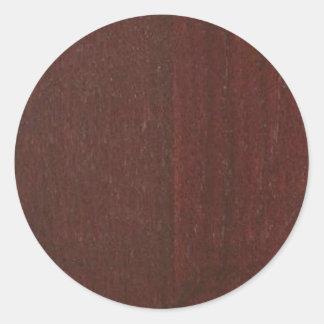 Pegatina Redonda El espacio en blanco de madera DE CAOBA Blanche de
