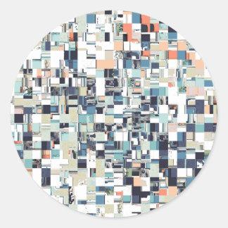 Pegatina Redonda El extracto embarulló mosaico