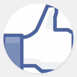 Pegatina Redonda ¡el facebook TIENE GUSTO de mí de manosear con los
