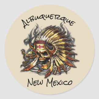 Pegatina Redonda El jefe deshuesa Albuquerque New México