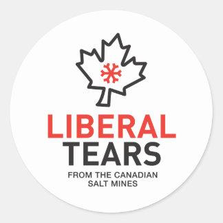 Pegatina Redonda El liberal rasga las minas de sal Canadá