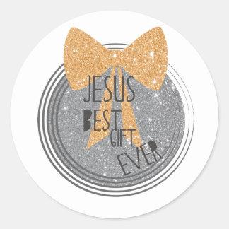 Pegatina Redonda El mejor regalo de Jesús nunca