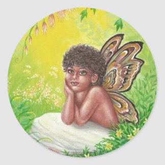Pegatina Redonda El niño de los faeries