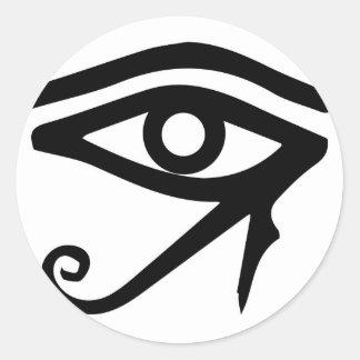 Pegatina Redonda El ojo del Ra