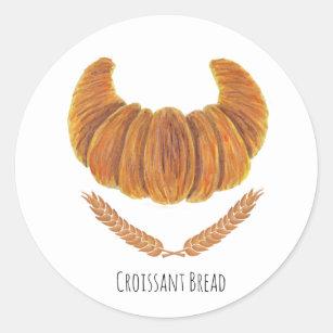 Pegatina Redonda El pan del Croissant