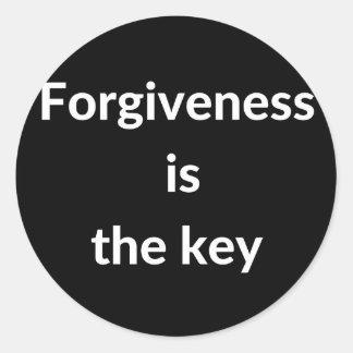 Pegatina Redonda El perdón es la llave