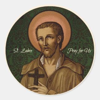 Pegatina Redonda El St. Benedicto Labre ruega para nosotros
