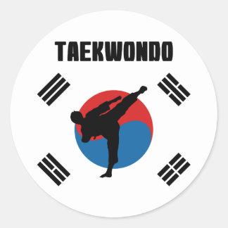 Pegatina Redonda El Taekwondo
