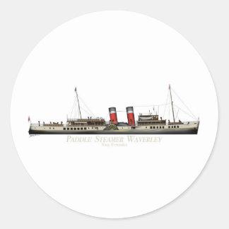 Pegatina Redonda El vapor de paleta Waverley de Tony Fernandes