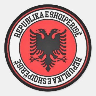 Pegatina Redonda Emblema redondo de Albania