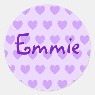 Pegatina Redonda Emmie en púrpura