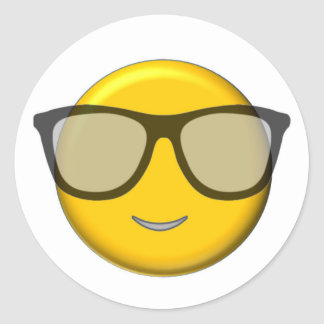 Pegatina Redonda Emoji fresco
