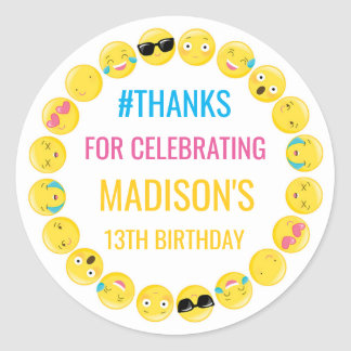 Pegatina Redonda Emoji personalizó etiquetas del favor del