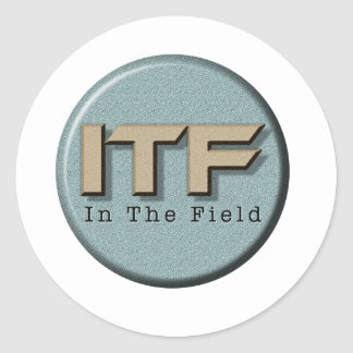 Pegatina Redonda En el logotipo de The Field