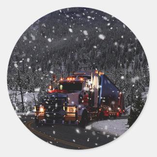 Pegatina Redonda Entrega del navidad