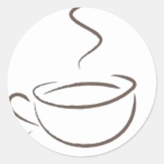 Pegatina Redonda Enviciado al café