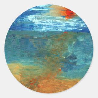 Pegatina Redonda Era el mar