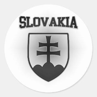 Pegatina Redonda Escudo de armas de Eslovaquia
