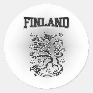 Pegatina Redonda Escudo de armas de Finlandia