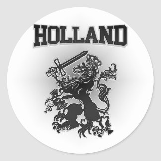 Pegatina Redonda Escudo de armas de Holanda