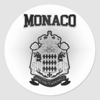 Pegatina Redonda Escudo de armas de Mónaco