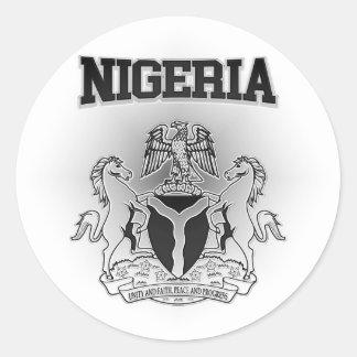 Pegatina Redonda Escudo de armas de Nigeria
