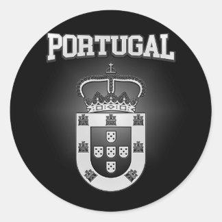 Pegatina Redonda Escudo de armas de Portugal