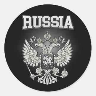 Pegatina Redonda Escudo de armas de Rusia