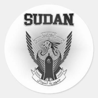 Pegatina Redonda Escudo de armas de Sudán