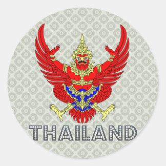 Pegatina Redonda Escudo de armas de Tailandia