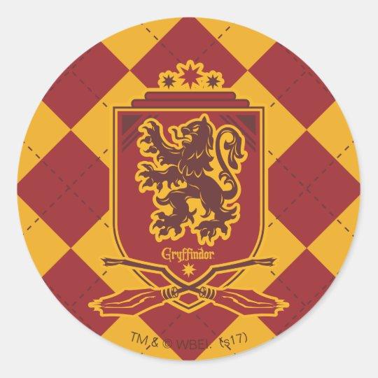 d00d6af8c Pegatina Redonda Escudo de Harry Potter el