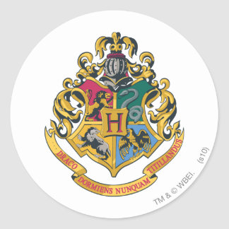 Pegatina Redonda Escudo de Harry Potter el | Hogwarts - a todo