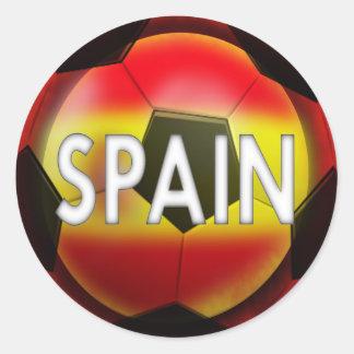 Pegatina Redonda España:  Equipo de #1 Futbol