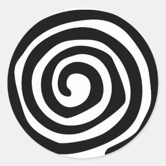 Pegatina Redonda Espiral