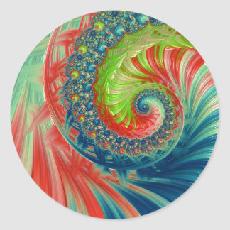 Pegatina Redonda Espiral brillante