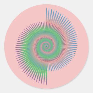 Pegatina Redonda Espiral de la rueda de Catherine