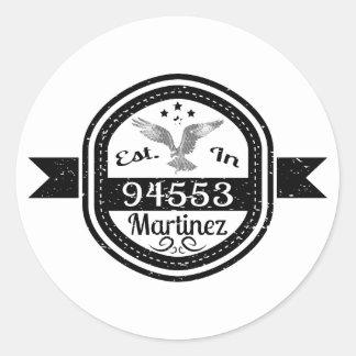 Pegatina Redonda Establecido en 94553 Martínez