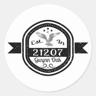 Pegatina Redonda Establecido en roble de 21207 Gwynn
