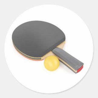 Pegatina Redonda Estafa y bola de tenis de mesa