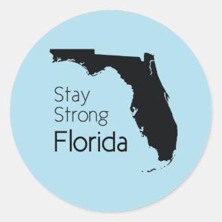 Pegatina Redonda Estancia la Florida fuerte