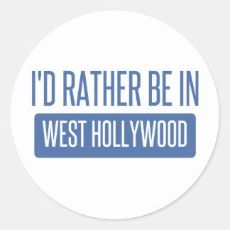 Pegatina Redonda Estaría bastante en Hollywood del oeste