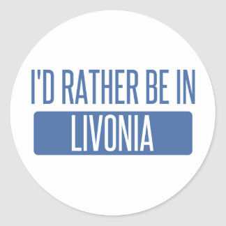Pegatina Redonda Estaría bastante en Livonia