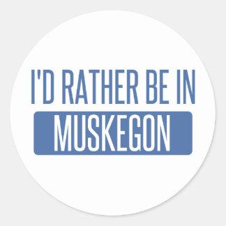 Pegatina Redonda Estaría bastante en Muskegon