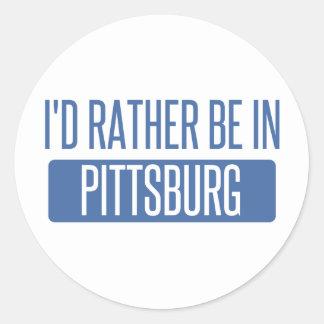 Pegatina Redonda Estaría bastante en Pittsburg