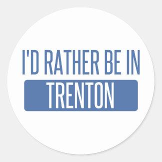 Pegatina Redonda Estaría bastante en Trenton