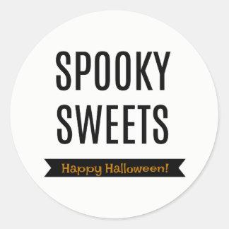 Pegatina Redonda Etiquetas de la invitación de Halloween