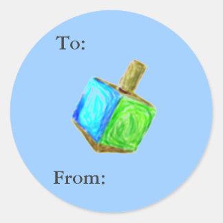 Pegatina Redonda Etiquetas del regalo de Dreidel
