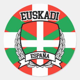 Pegatina Redonda Euskadi