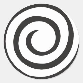 Pegatina Redonda Extracto espiral