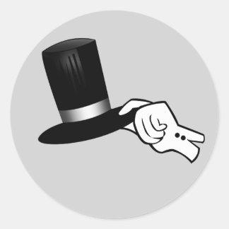 Pegatina Redonda Extremidad del gorra del caballero